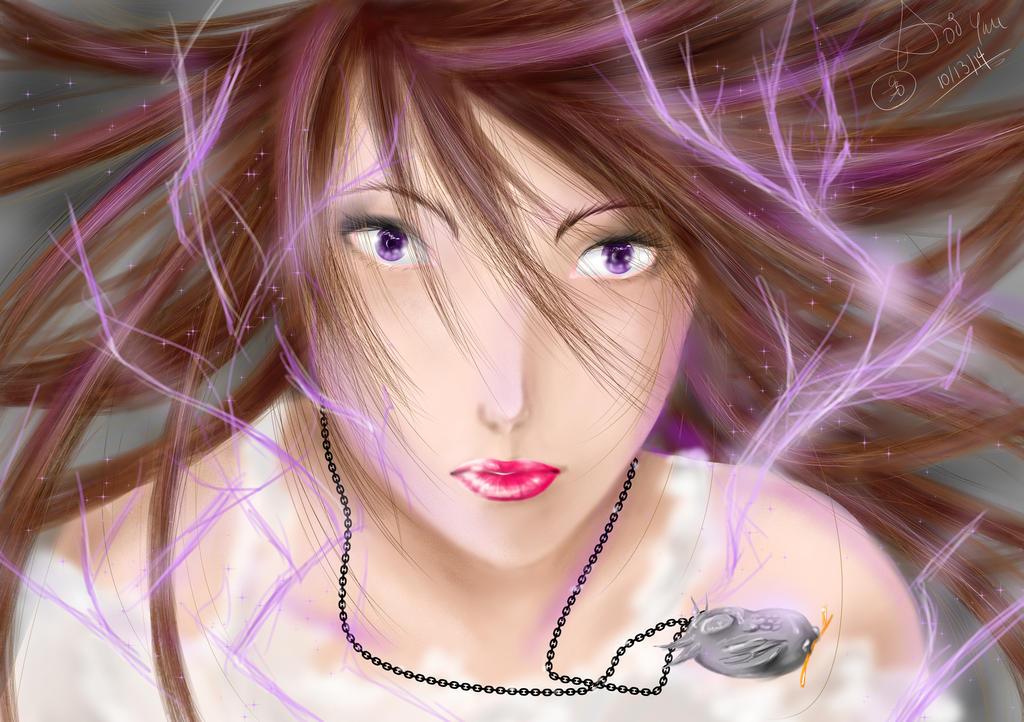 Violet Fire by Wonder-land--Art
