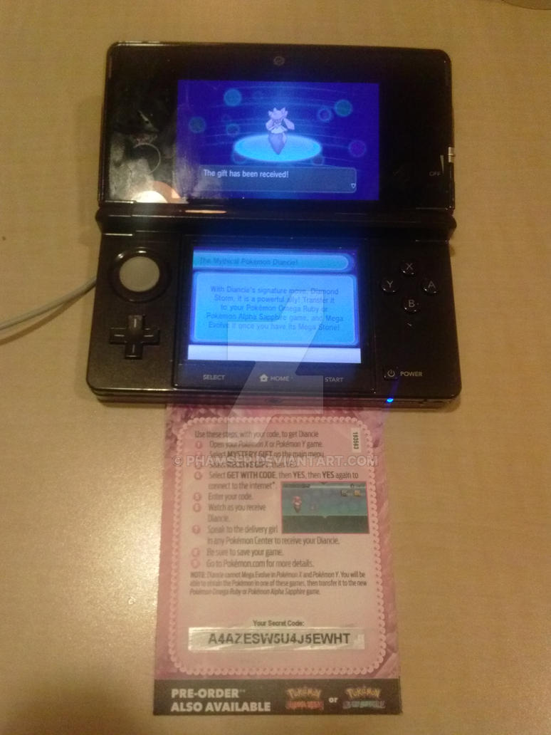 Pokemon] Got Diancie! by Phamser on DeviantArt