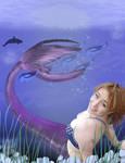 Fantasy, a dream, a mermaid, the deep blue sea. by Pixie-Aztechia