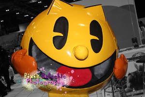 Pacman cosplay, MCM Expo October 2013 by Pixie-Aztechia