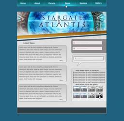 SGA fan site layout by No10x
