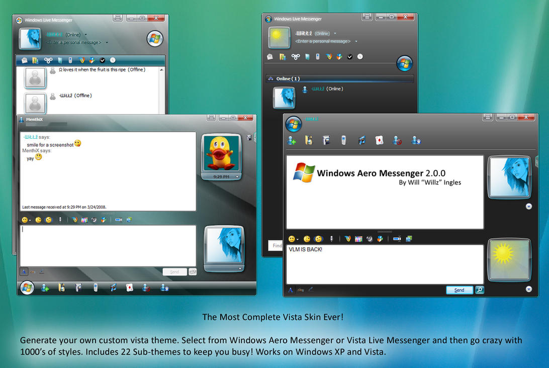Windows Aero Messenger by CrystalPhoenixStudio