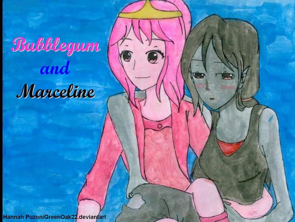 Princess Bubblegum and Marceline by GreenOak22