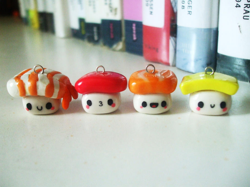 Kawaii Sushi Charms by Number1FMAfangirl