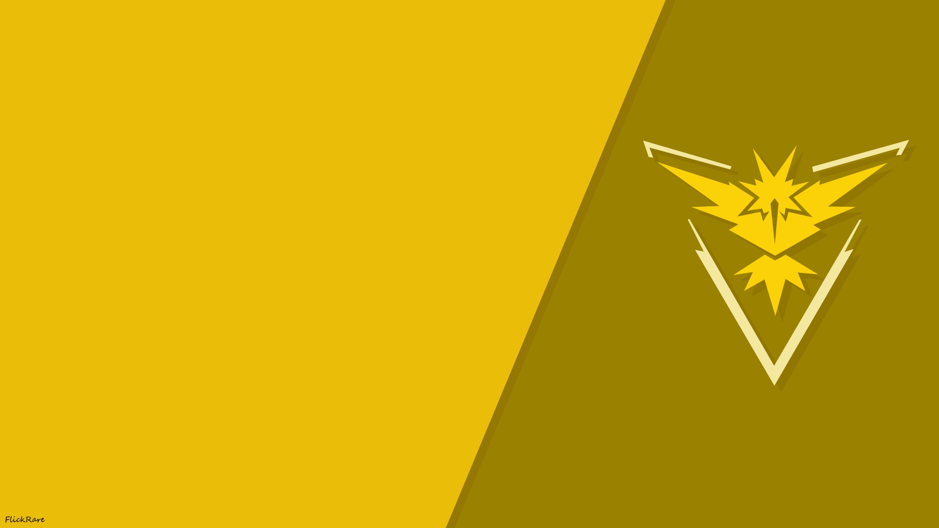 Pokemon go simple team instinct wallpaper by flickrare on for Going minimalist