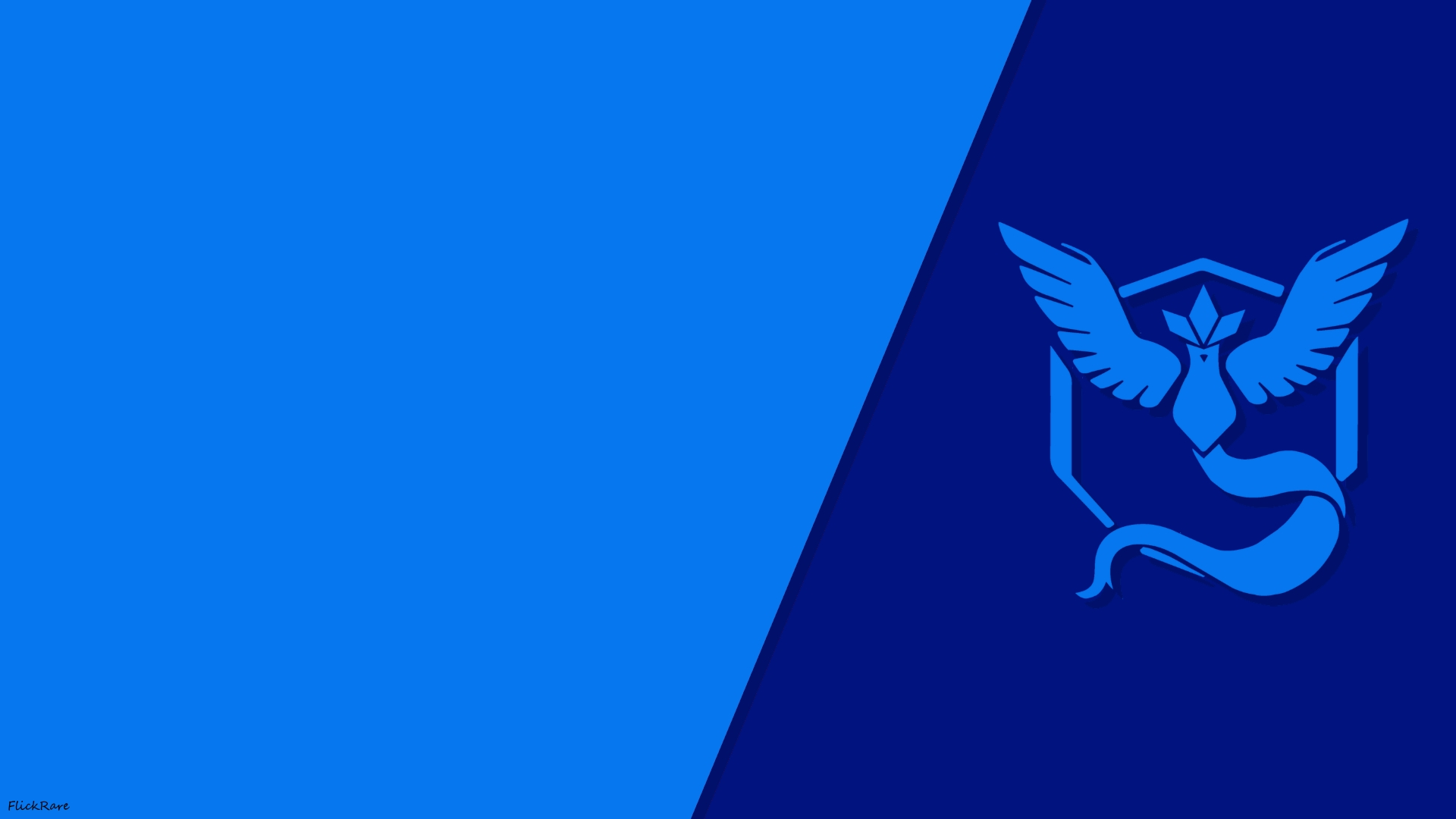 Pokemon go simple team mystic wallpaper by flickrare on for Going minimalist