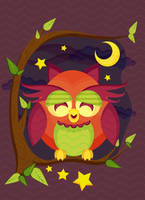 Resting Owl Scene Tutorial by jcroxas