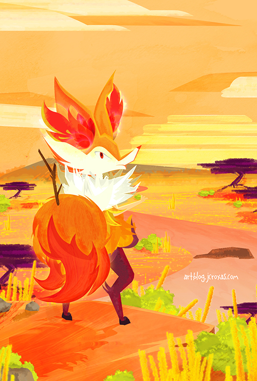 Braixen's View by jcroxas