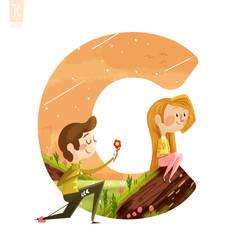 C is for Cupid's Arrow