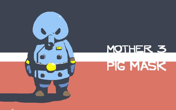 pig mask wallpaper mother 3 by voln on deviantart