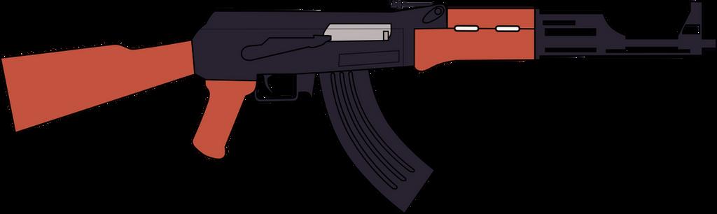 ak 47 assault rifle vectorjsoftentertainment on deviantart