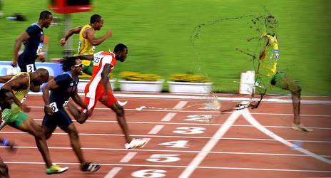 Running Usain Bolt by obsidianart2