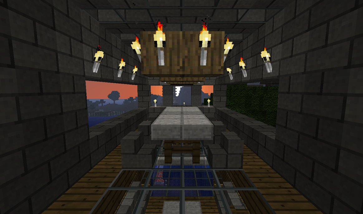 Minecraft dining area by th3 rav3n on deviantart for Minecraft dining room designs