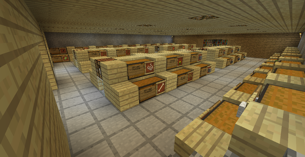 minecraft how to build a storage room