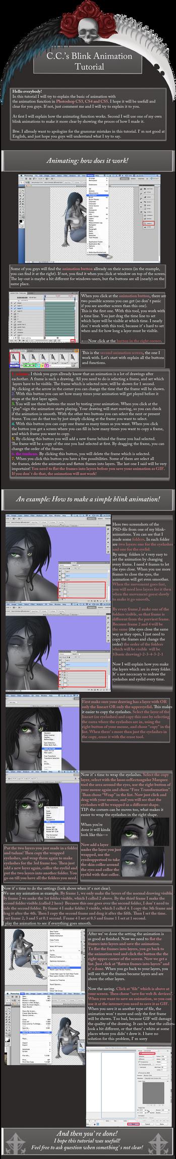 Blinking Animation Tutorial by CatCleopatra