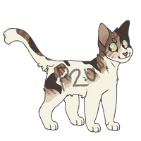 P2U Lineart - Cat Adoptable by rainwolfeh
