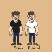Practice Sketches of Stan and Stanley