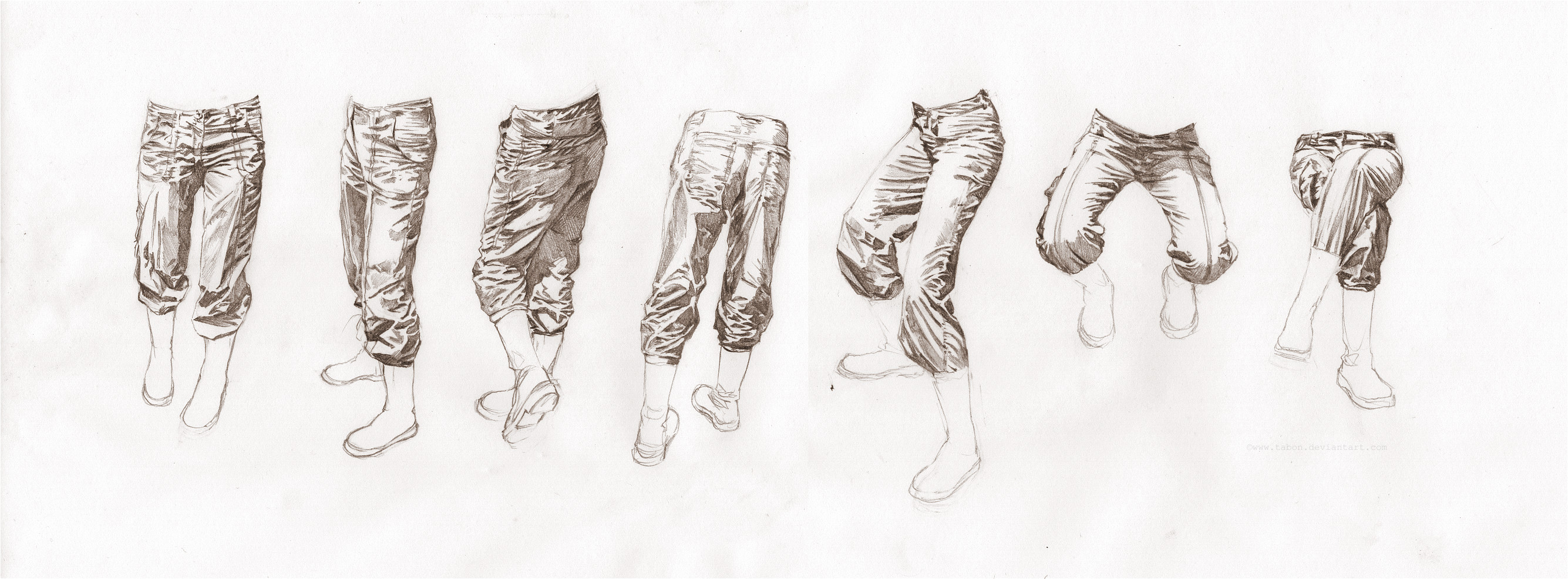 Trouser creases study by Tabon
