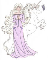 The Last Unicorn: Amalthea by Saphari
