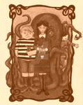 Halloween 2012: Addams Family Sepia: the Kids