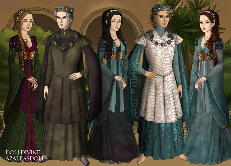 GoT SceneMaker: Silmarillion: Feanturi and spouses by Saphari