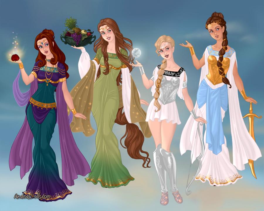 GoddessMaker: Hera, Demeter, Artemis and Athena by Saphari ...