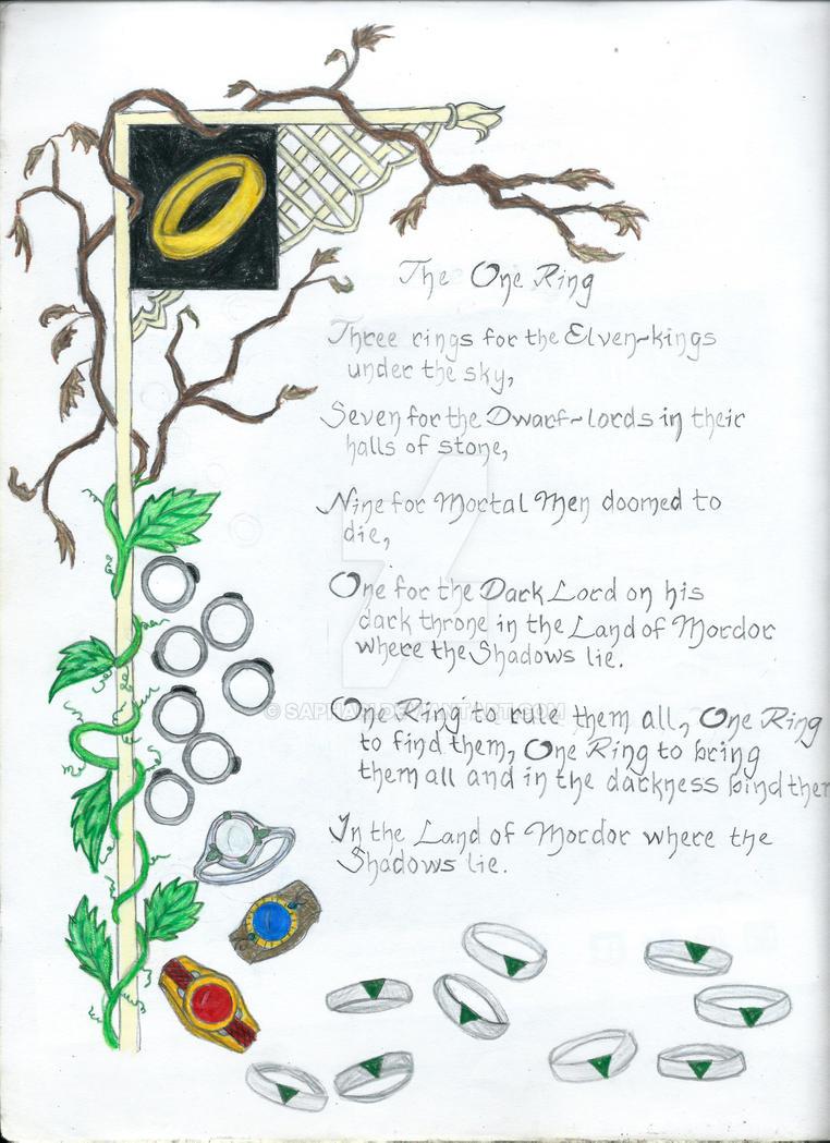LotR: The Ring Poem by Saphari