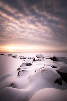 Frozen beach