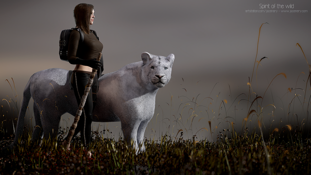 Spirit of the wild - Realtime character render