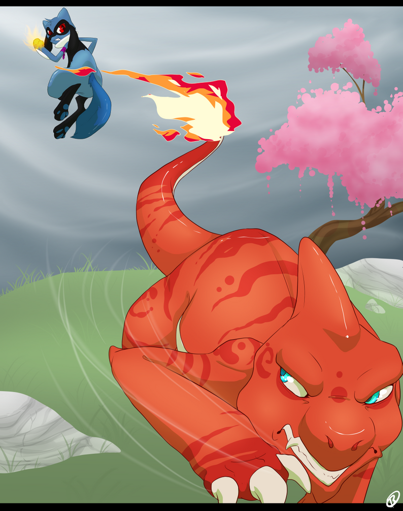Blaze Vs. Zerro 1 :PKMNation: by Runa-Feitr