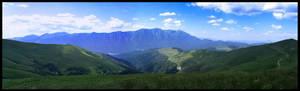 Panoramic mountains