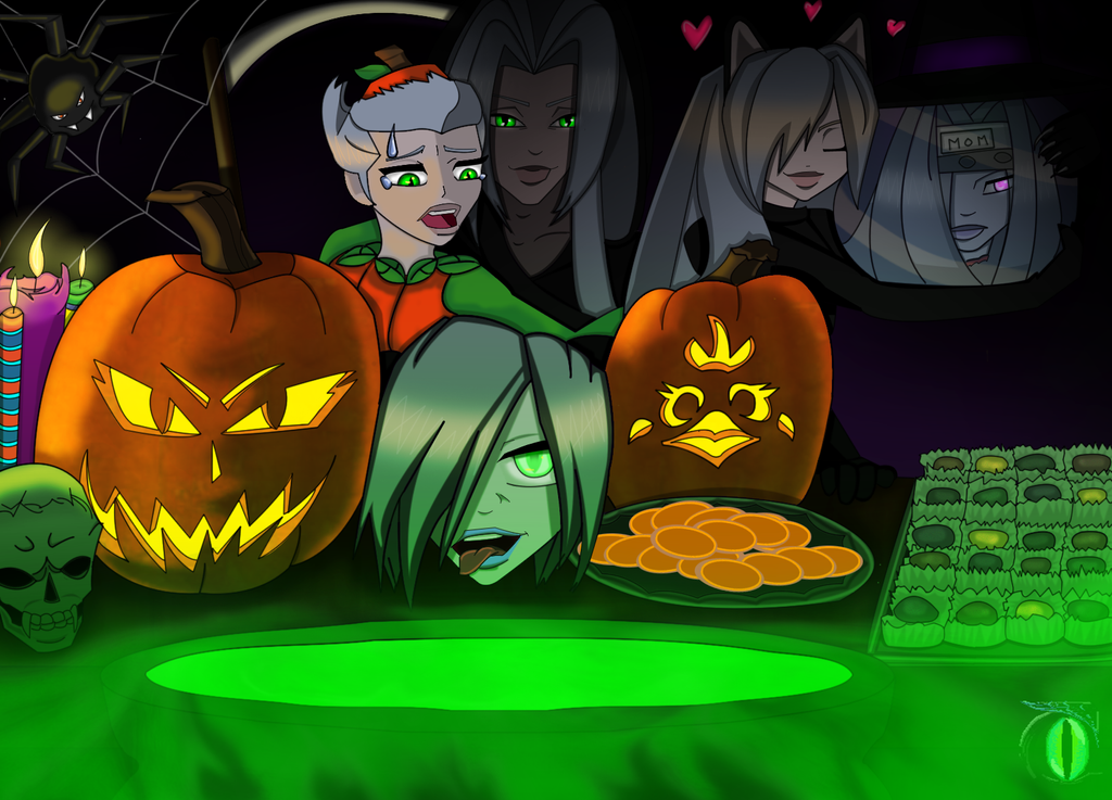 AU Halloween Version 1 by darkmorgainelefay