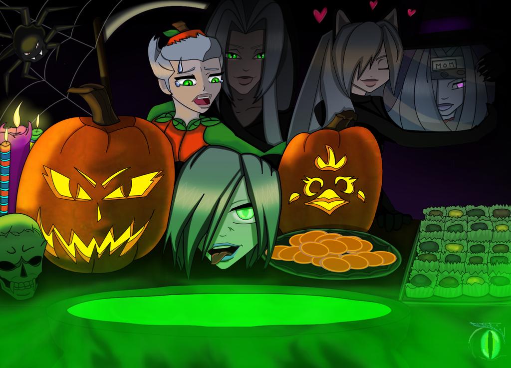 AU Halloween Version 1 by darkmorgainelefay