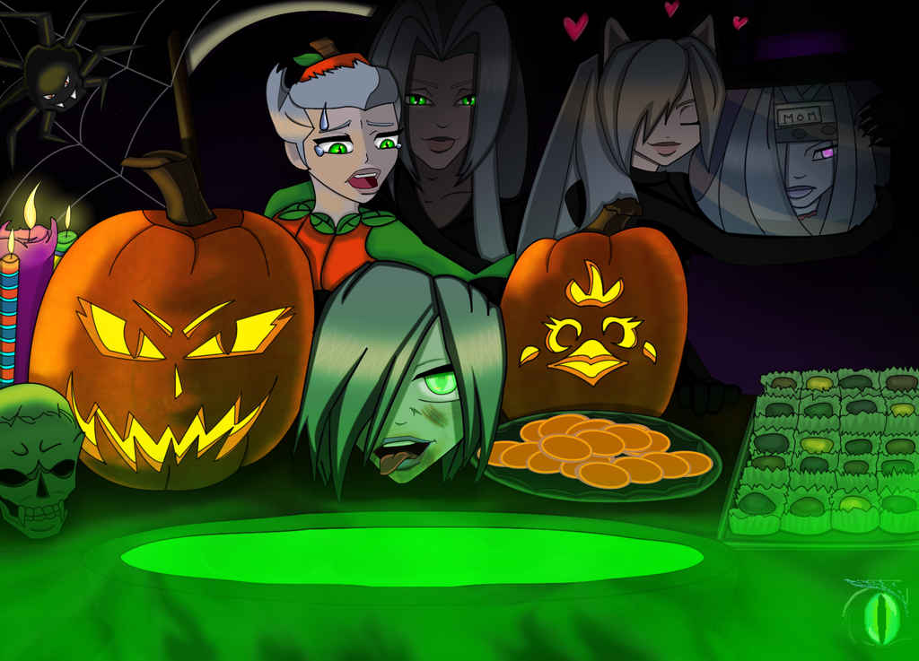 AU Halloween Version 2 by darkmorgainelefay