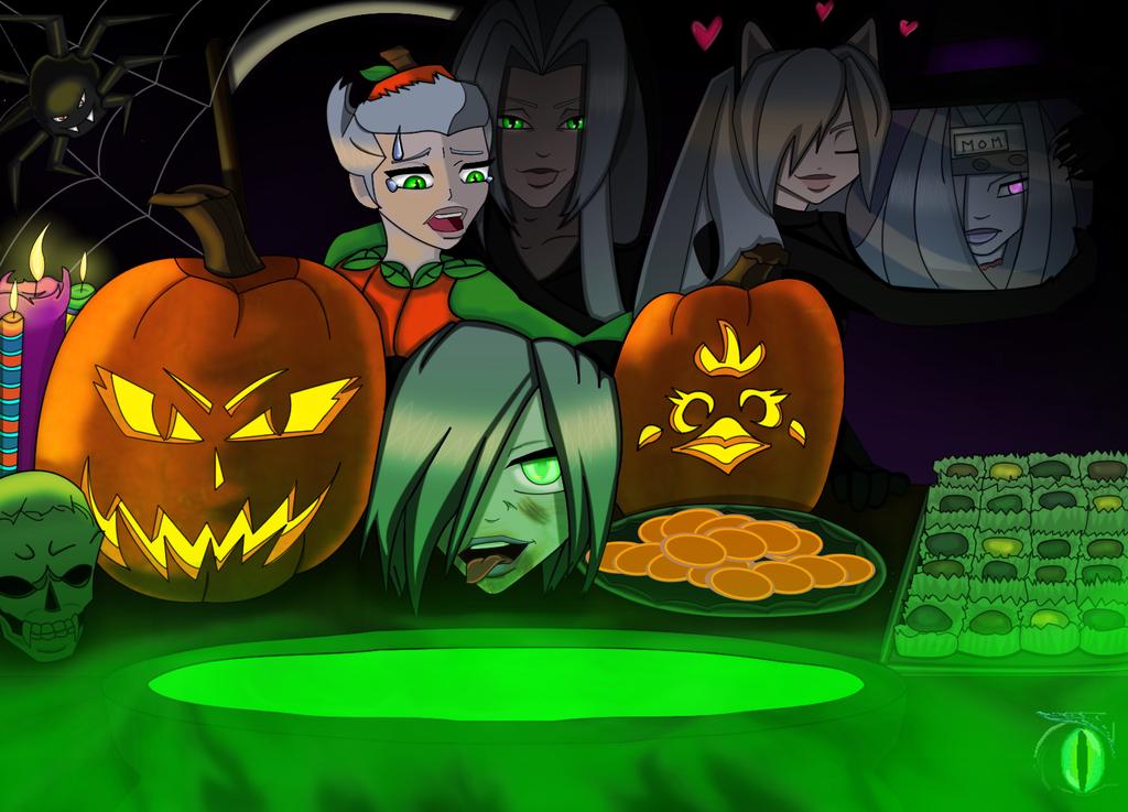 AU Halloween Version 2 by darkmorgainelefay