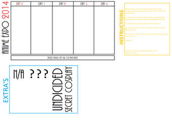 Anime Expo 2014 Cosplay Line-up Template by NeverlandKidd