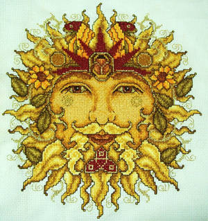 Sun God Cross-Stitch