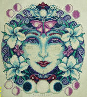 Moon Goddess Cross-Stitch by HaleyGeorge