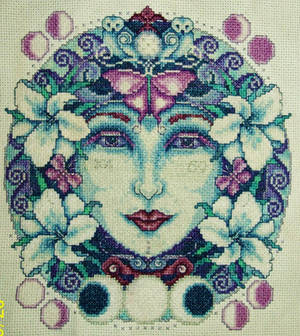 Moon Goddess Cross-Stitch