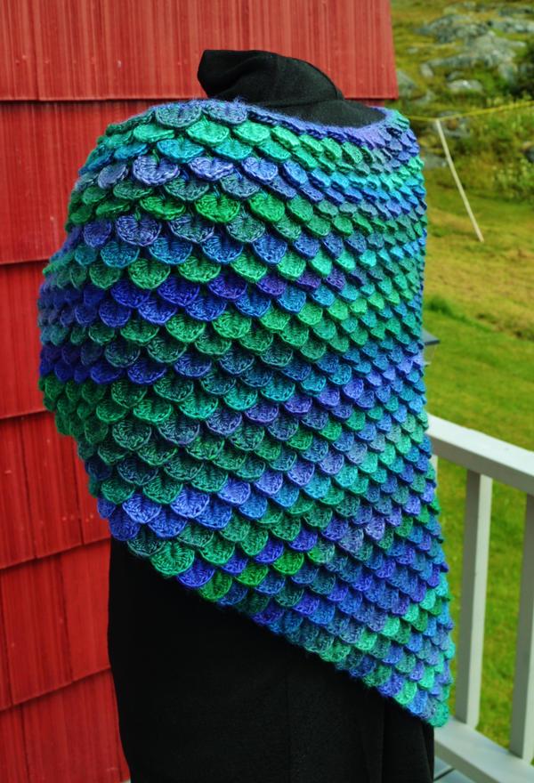Knitting Pattern Dragon Scales : Dragon Fly Handmade Crochet Shawl by HaleyGeorge on deviantART