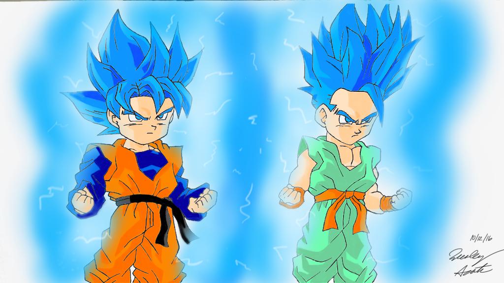 Goten And Trunks Super Saiyan Blue by MLGArtWarrior on ...
