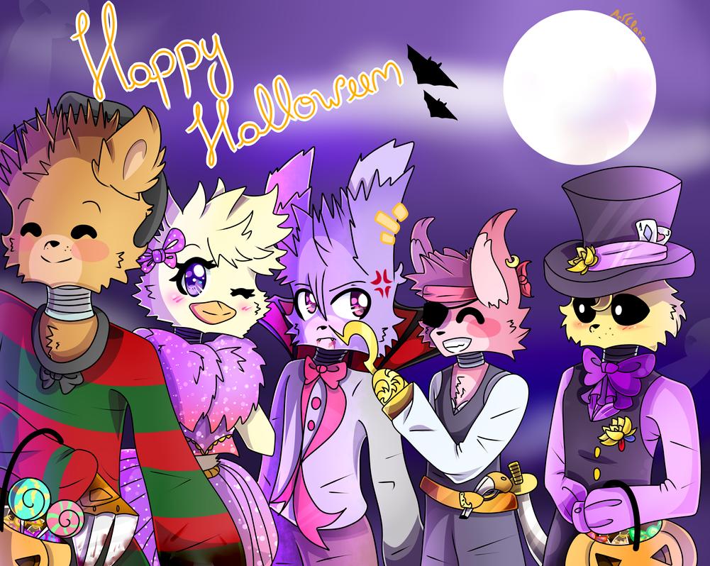 It's Halloween at Freddy's! (FNAF) by ArtClara on DeviantArt