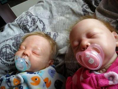 2 of my babies, Olivia and Nathan by Rushia-san