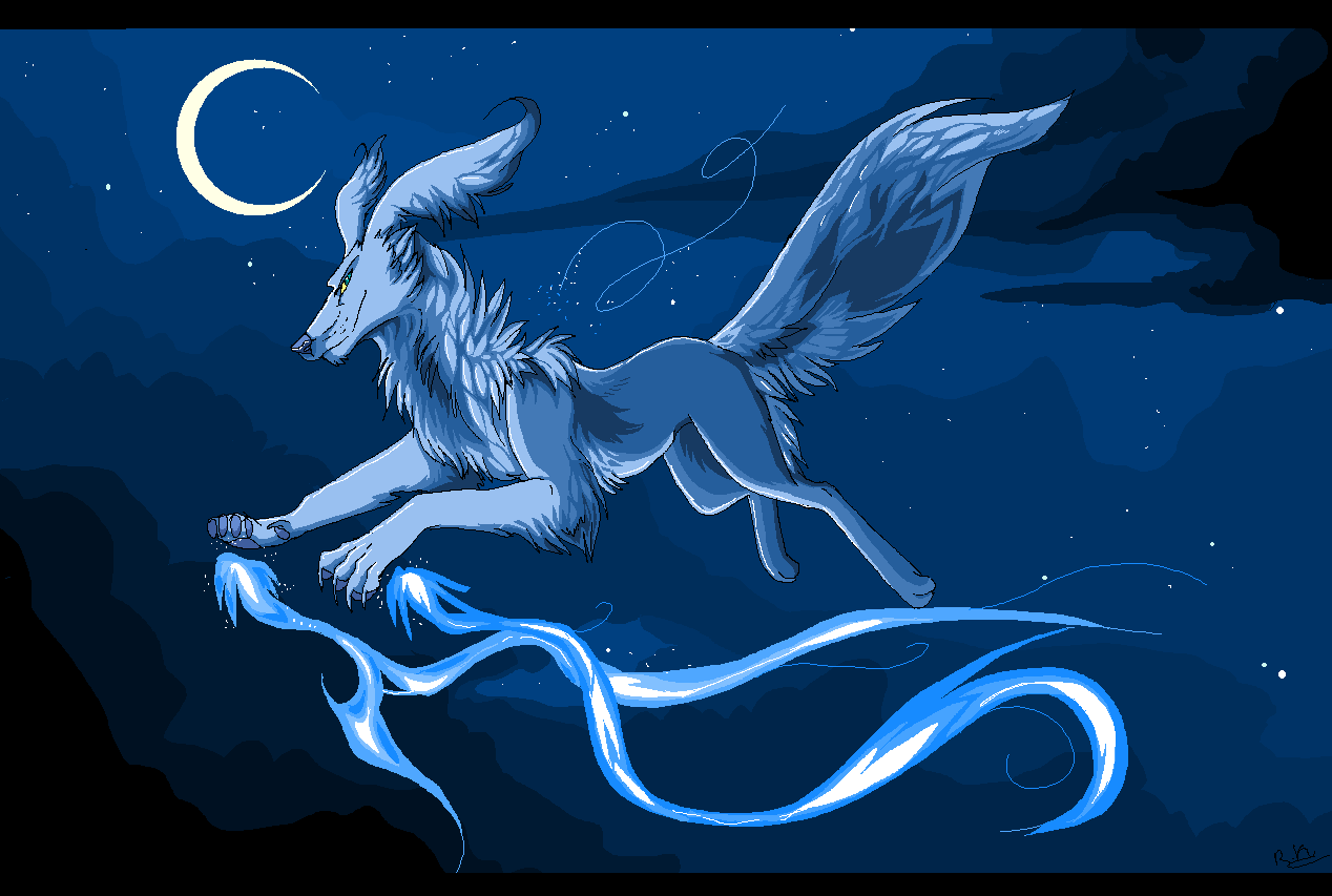 guardian of the night sky -MS paint by Ronkeyroo