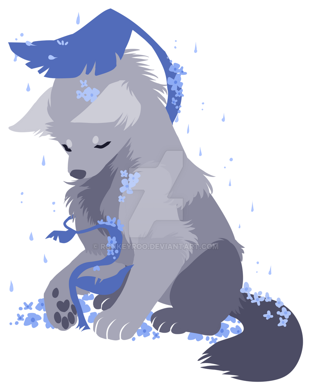 + Rainy Wolf + by Ronkeyroo