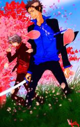 Yamamoto Gokudera Sakura by heavensfolly