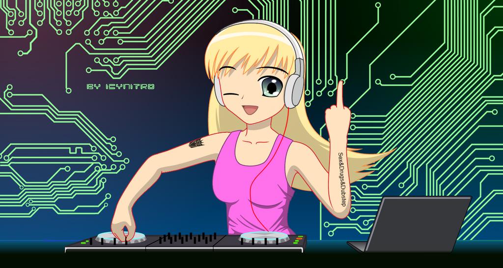 anime dubstep dj girl by icynitro on deviantart