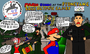Mario and Sonic at the Pyongyang Olympic Games by EBCrazy2