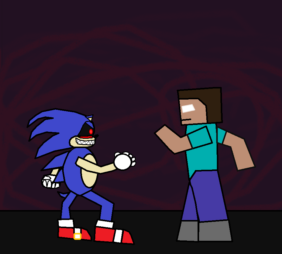 notch vs herobrine minecraft fight animation