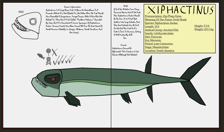 Dinatheen P-Animal Info Ref: Xiphactinus by ...